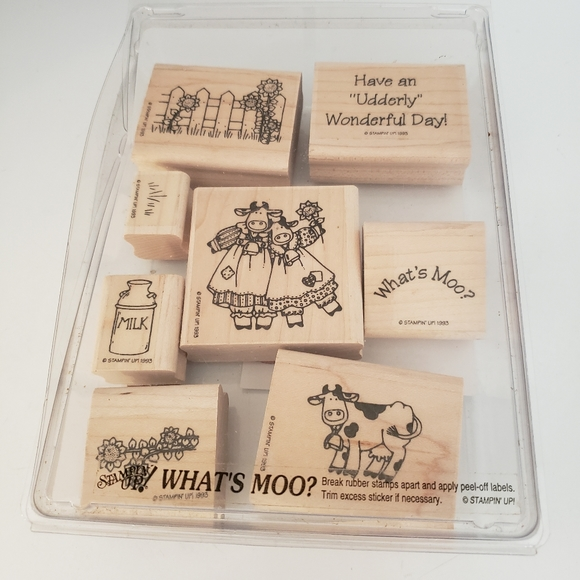 NEW Stampin' Up! Vintage NEW What's Moo Set